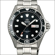 Orient Black RAY II Automatic, Hand Wind, Hacks, Dive Watch #AA02004B, FAA02004B