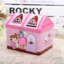 Creative Pink Piggy Bank Money Coin Box Cute Bear House Model Money Save Box
