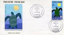 FDC / PREMIER JOUR POLYNESIE / TIMBRE N°  108 JOURNEE DE L'ECOLOGIE PAPEETE 1976