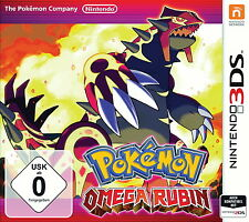 Pokemon Omega Rubin  in Deutsch  für Nintendo 3DS (XL) 2DS.Mit 2 Event Pokémon