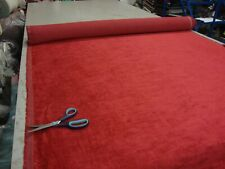 FABRIC 190 - 10M ANTIQUE RED DESIGNER CURTAIN UPHOLSTERY FABRIC £2.99/MTR