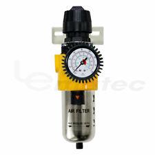 """1/2"""" Air Flow Air Compressor Regulator & Filter W/ Air Gauge Drain Valve LEMATEC"""