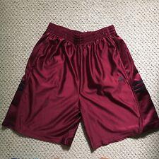 Vintage Rare Adidas 3 Stripe Athletic Shorts Shiny Red No Drawstring (Medium)