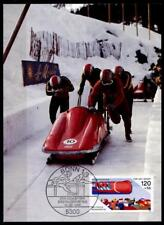 Bobsport. WM-1986. Maximumkarte. BRD 1986