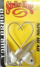 Strike King Tour Grade Spin Heads 3/4oz – White/Chartreuse, 2 per pack