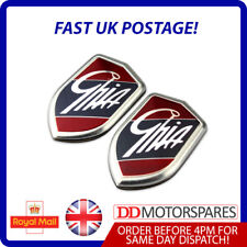 2 x New Ford Ghia Badge Chrome Emblem 1357624