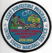 Marshal asset Forfeiture Program 1789-1999 POLICE PATCH DISTINTIVO POLIZIA USA
