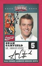 SEAN CANFIELD 2010 SENIOR BOWL OREGON STATE BEAVERS RC SIGNED NEW ORLEANS SAINTS