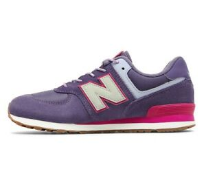 New Balance Summer Camp 574 Purple Violet Pink GC574PAE Girls 6.5 Running Patch