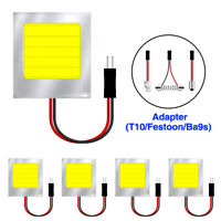 5pcs Car Interior Light Panel 48 SMD LED T10 BA9S Dome Festoon Bulb 12V Adapter