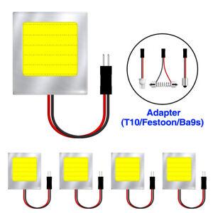 5pcs Car Interior Light Panel 48 SMD LED T10 BA9S Dome Festoon Bulb 12V Adapter