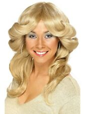 1970's Flick Chick Blonde Women's Costume Wig