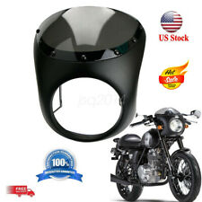Motorcycle Headlight Handlebar Fairing Retro Cafe Racer Style Universal 7 inch