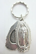 Our Lady of Guadalupe Locket Style Slide Medal Key Ring Gift Box & Prayer Card
