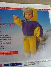 T13 PATRON POUPEE EMILIE M & TRAVAUX ENSEMBLE DE SKI JANVIER 1989