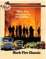 Mack Fire Engine Chassis 1985 USA Market Sales Brochure MS R MC CF