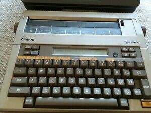 CANON Typestar 6 Portable Electric Thermal Typewriter. Types not sure if prints.