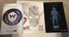 NYCC 2016 EXCLUSIVE WESTWORLD HBO PROMO SWAG SET OF 3 ART POSTERS RARE