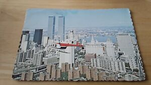 New York  Island Helicopter Corp,  E 34th st, & East River Twin towers  PC 1981