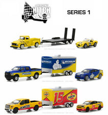 2018 GREENLIGHT RACING HITCH & TOW SERIES 1 - 3 TRUCK, CAR AND TRAILER SET