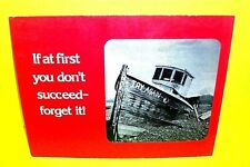 Vtg 1974 Mini Counter Cardboard Poster Store Display by April House Boat Red
