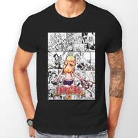 Fairy Tail Lucy Heartfilia Manga Strip Anime Unisex Tshirt T-Shirt Tee ALL SIZES