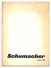 ARTE GALLERIA BLU MILANO 1962 MOSTRA EMIL SCHUMACHER