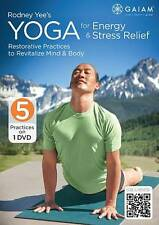 Rodney Yee's Yoga for Energy & Stress Relief (DVD, 2013) Ships in 12 hours!!!