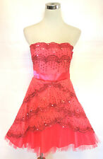 NWT MASQUERADE Coral Peach Cocktail Party Dress 3