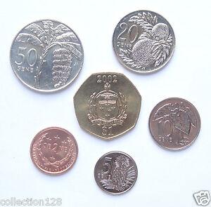 Samoa Coins Set of 6 Pieces 2000-2002 UNC