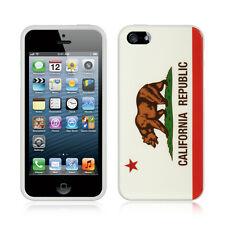 Apple iPhone 5 5S SE TPU CANDY Gel Flexi Skin Case Phone Cover California flag