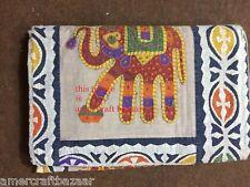 KANTHA QUILT BEDSPREAD COTTON HANDMADE PATCHWORK INDIAN BLANKET KING SIZE!CRAZY.