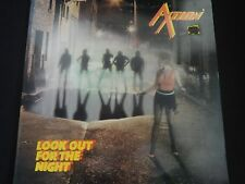 """Axtion """"Look Out For The Night"""" Original LP (IRD 005). 1985. RARE HAIR METAL !"""