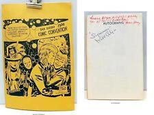 1974 SAN DIEGO COMIC CON PROGRAM Jack Kirby SIGNED KIRK ALYN Superman JUNE FORAY Comic Art