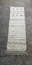 Show Towel - 1853 w/name stitched on Linen. Very Good Condition. Vibrant Thread