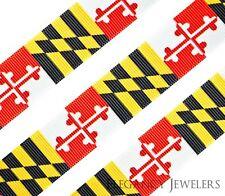 "High Quality 7/8"" Maryland State Flag Hair Bow Cheer Printed Grosgrain Ribbon"