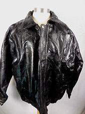 Maxam Italian Mosaic Black Leather Jacket Mens XXL Lambskin Top Grain Bomber New
