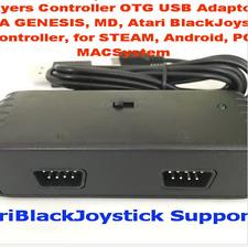 Game Accessories 2 Players Controller OTG USB Adaptor for SEGA GENESIS, MD,