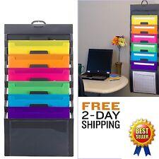Office Wall Organizer Letter Storage Mount Media File Sorter Folder Holder Rack