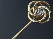 Sehr feine Krawattennadel 14 Karat 585 Gold mit Diamant