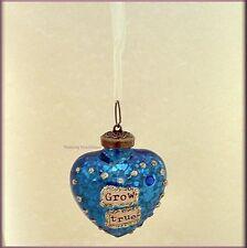SEPTEMBER BIRTHDAY WISH GLASS HEART ORNAMENT BY KELLY RAE ROBERTS FREE U.S. SHIP