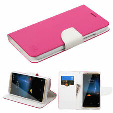 For ZTE Axon 7 A2017U Leather Flip Wallet Case Cover Stand Hot Pink