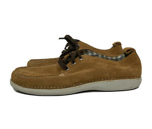 Sperry Top Sider Shoes Brown Mens Size 9.5 0817619 K-10 CH196 Nubuck Leather Moc