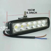 IP67 18W LED Flood Spot Light Bar Driving Work Lamp Off-Road SUV Car Boat Truck