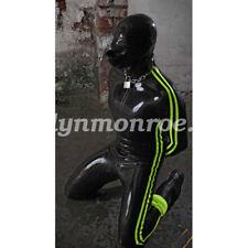 Latex Rubber Gummi Catsuit Cool Bodysuit With Mask Kostüm Ganzanzug Size XXS-XXL