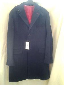 Eden Park mens coat wool blend lined centre back vent breast 3 inside pockets