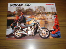 New listing 1992 Kawasaki Vulcan 750, Nos Sales Brochure 2 Pages.Text in English & French.