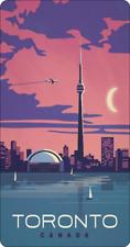 28cm x 14.5cm TORONTO - METAL SIGN - CN TOWER ONTARIO CANADA CANADIAN MAPLE  86