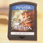 Cartridge only Attack on Titan Shingeki no Kyojin  PS Vita Koei Tecmo PSVita