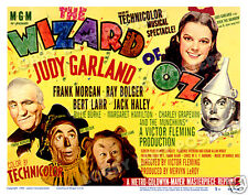THE WIZARD OF OZ  LOBBY TITLE CARD POSTER 1949-R JUDY GARLAND FRANK MORGAN